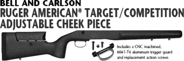 Bell and Carlson Ruger American® Target/Competition Adjustable Cheekpiece