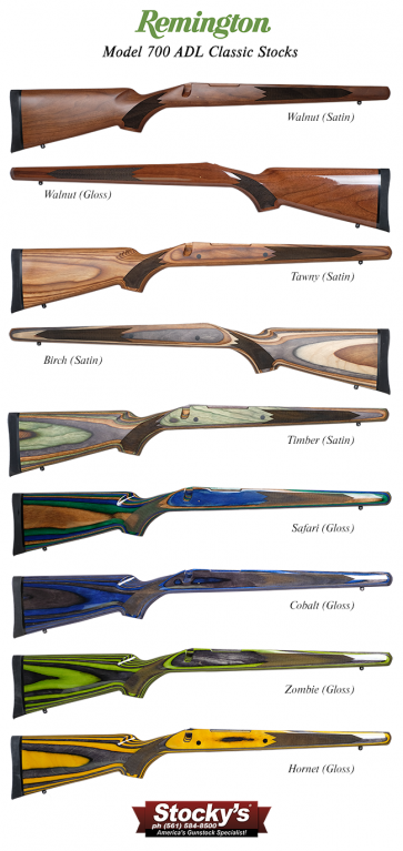 Special Edition! Remington 700™ ADL Classic Walnut Or Laminated Wood Riflestocks