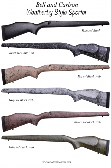 Bell & Carlson Medalist Weatherby Style Stocks for Mark V®, Vanguard® & Remington 700™