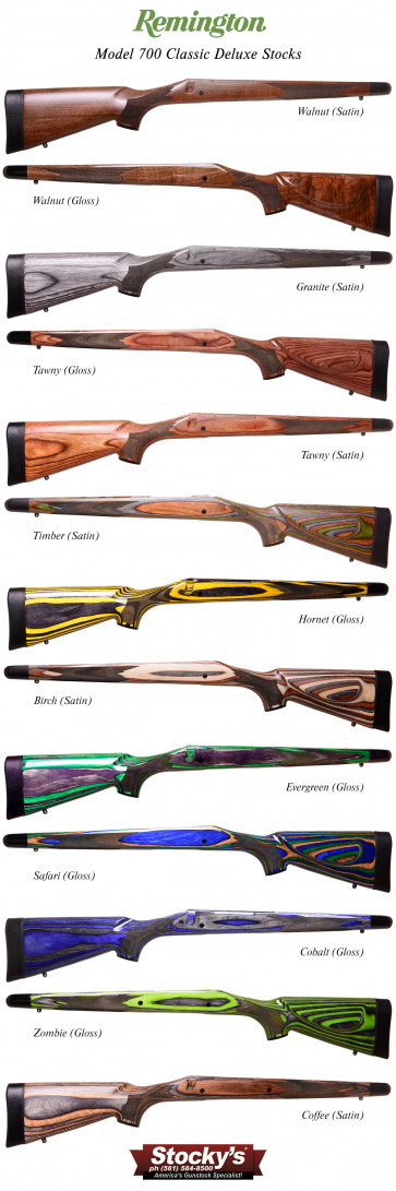 Special Edition! Remington 700™ Classic Deluxe Stocks (CDL) - OEM Walnut or Laminated Wood - SuperCell Pads