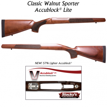 Stocky's® Classic 700 Sporter - Walnut w/ New Accublock Lite®