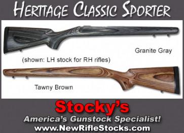 *NEW!* Heritage Classic Sporter Stocks - Remington 700 ADL/BDL LEFT HAND STOCKS For RH Rifles!