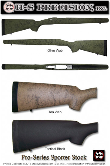 H-S Precision Pro-Series 2000 Sporter Stocks - Remington 700 ADL BDL Right and Left Hand PSS 001 003 009 010 016 108