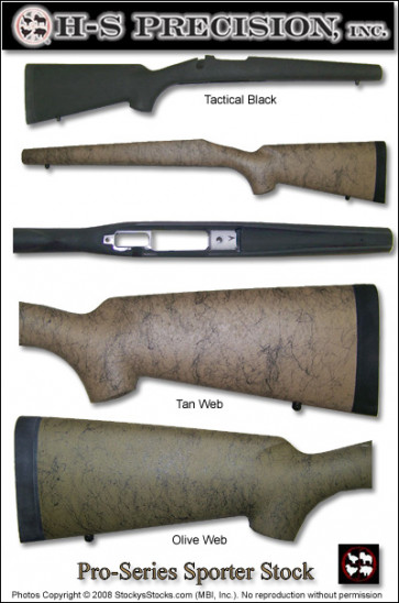 H-S Precision Pro-Series 2000 Sporter Stocks - Ultra Light Mountain Ranger for Remington Model 700 Short Action PSS  045   094