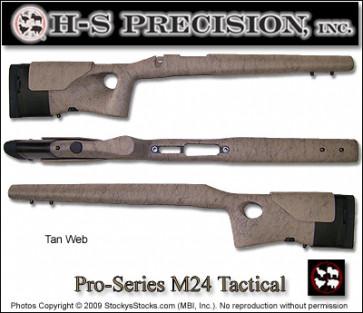 H-S Precision Pro-Series M24 Thumbhole Tactical Remington 700  BDL - Adjustable LOP & Cheek PST 083 084