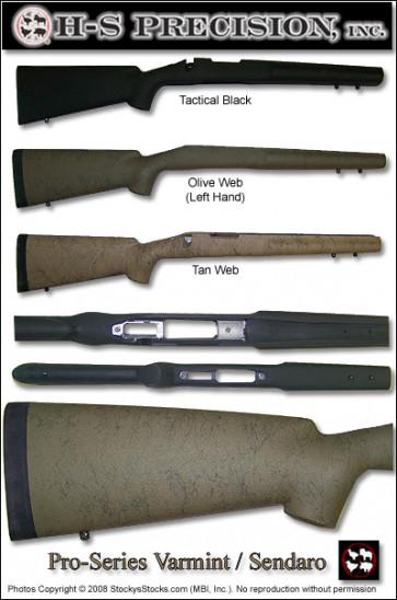 H-S Precision Pro-Series 2000 Sendero Varmint   A1 Tactical   Full Bull Stocks - Remington 700 BDL (RH and LH Available) PSV 079 080 096 097 107