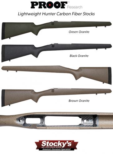 Proof Research® Carbon Fiber Lightweight Hunter Remington 700™ Riflestock and Proof Research Carbon Fiber Barrel