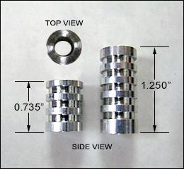 "Pillar Bedding Sleeves PRE CUT for Rem 700 - 9/16"" Aluminum"