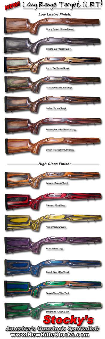 Bobby Hart Long Range Target / Tactical (LRT) Remington 700 BDL / Savage 10/12 (4.40) Laminated Heavy Barrel Riflestocks (Right & Left Hand Models)