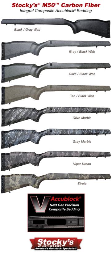 NextGen UltraLite Carbon Fiber M50™ Remington 700™ Stocks