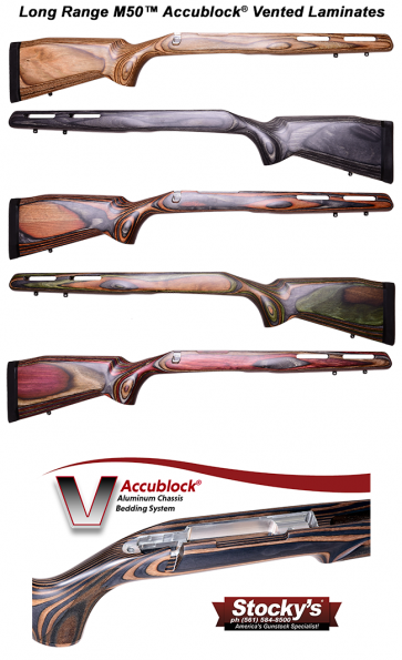 Stocky's® Long Range AccuBlock® M50™ Laminated Stock Remington 700™