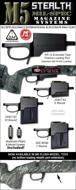 M5 Stealth DM M24 Detachable Magazine System - Remington 700 (Funnel or Flush Models) *New Upgraded Mil-Spec Platform* (H.P. White Tested)