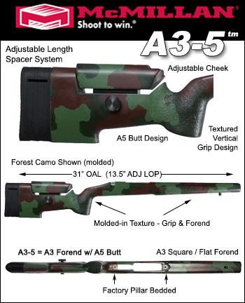 McMillan A-3/5 Adjustable Tactical Fiberglass Stock