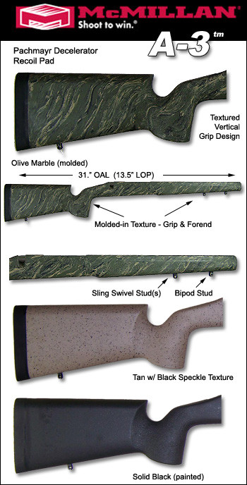 Mcmillan A3 Tactical Remington 700 Bdl Cdl Varmint Sps