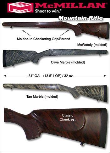 McMillan Remington Mountain Rifle 700 788 600 Fiberglass Stock