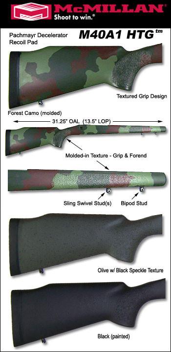 McMillan M40A1 HTG/TEX Tactical Fiberglass Stock