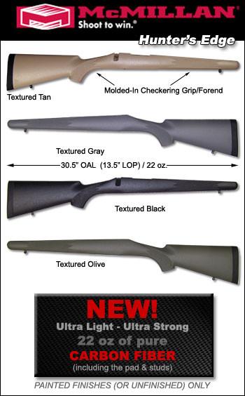 McMillan Hunter's Edge Carbon Fiber Ultra-Light Winchester 70 / Montana Rifles