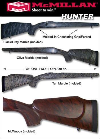 McMillan Browning A-Bolt / BBR / Safari Hunter Fiberglass Stock