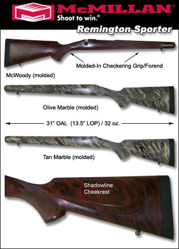 Mcmillan Remington 700 ADL BDL CDL Sporter Fiberglass Riflestock