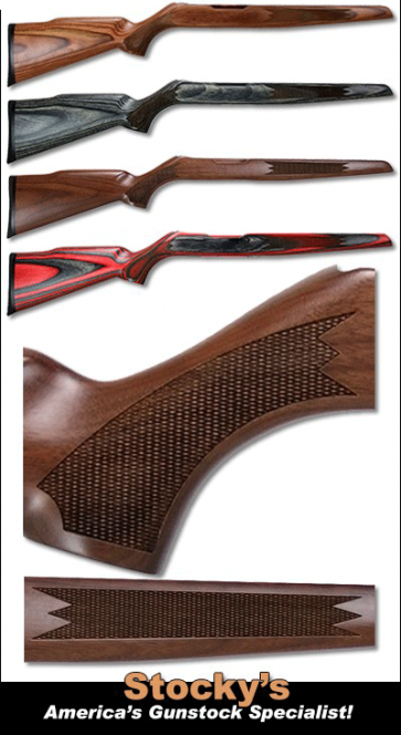 Classic Checkered Ruger American Rimfire Stock