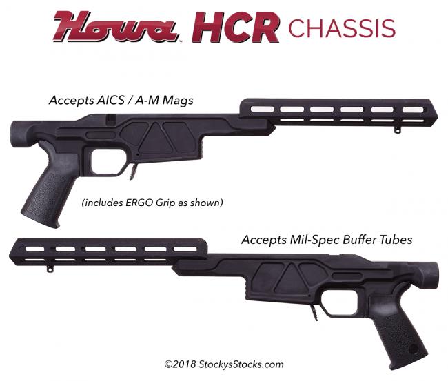 Howa® HCR Chassis Riflestocks - Howa 1500® / Weatherby® Vanguard®