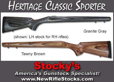 Heritage Classic Sporter Stocks Remington 700 Adl Bdl Left Hand