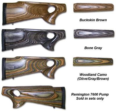 Thumb hole laminated gun stock