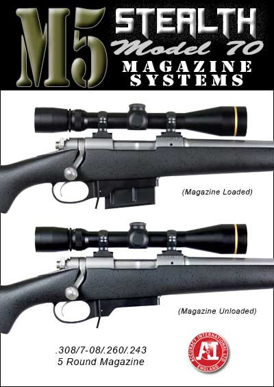 M5 Stealth DM Detachable Magazine System - Winchester Model 70 Short Action  (Accuracy International Magazines)