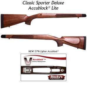 Stocky's® Classic 700 Sporter Deluxe - Walnut w/ New Accublock Lite®