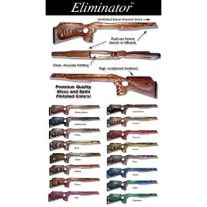 Package Deal! Eliminator Laminated Stock Designed for the Ruger® 1022® and Micro Groove Barrel