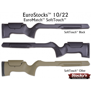 Stocky's® EuroMatch™ Designed For Ruger® 10/22® SoftTouch™ Adjustable Cheekpiece Stock - .920 Bull Barrel