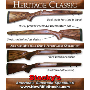 Stocky's Classic Sporter Stocks - Remington 700 ADL BDL , Ruger 77 Mark 2, Savage 10 / 110, Winchester 70 / 70a / 670, Weatherby Vanguard