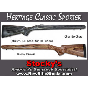 *NEW!* Heritage Classic Sporter Stocks - Remington 700 ADL/BDL LEFT HAND STOCKS For RH Rifles!