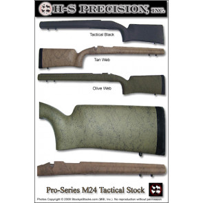 H-S Precision Pro-Series M24 Vertical Grip Varmint Tactical Remington 700   Winchester 70 Stocks - Fixed PST 035 036 053 055