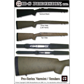 H-S Precision Pro-Series 2000 Sendero Varmint   A1 Tactical   Full Bull Stocks - Remington 700 BDL (RH and LH Available) PSV 079 080 096 097 107