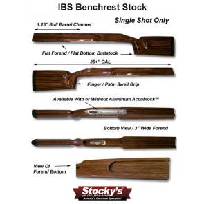 "Stocky's® Ideal Benchrest Stock (IBS™) Remington 700™ SA or LA - 3"" Forend"