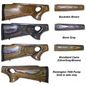 Thumbhole 2pc Stocks - Remington 7600 Pump Rifles