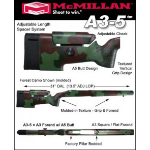 McMillan A-3/5 Adjustable Tactical Fiberglass Stock