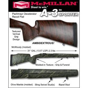 McMillan A3 Sporter Lightweight Fiberglass Stock