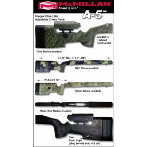 McMillan A5 Adjustable Tactical Fiberglass Stock