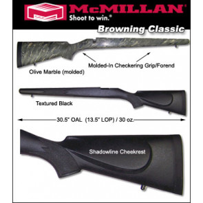 McMillan Browning A-Bolt / BBR / Safari Classic Model Fiberglass Stock
