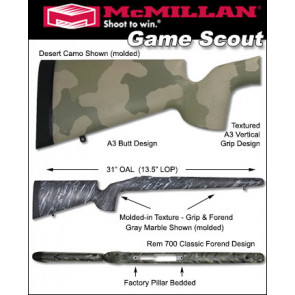 McMillan Game Scout Lightweight Fiberglass Stock