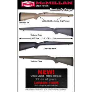 McMillan Hunter's Edge Carbon Fiber Ultra-Light Winchester 70 / Montana Rifles