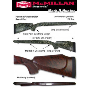McMillan Hunter Ruger 77 Mark II Fiberglass Stock