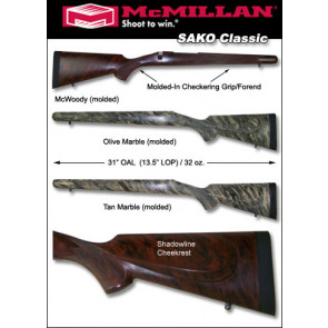 McMillan SAKO Classic, Tikka T3, Howa 1500 Fiberglass Stock