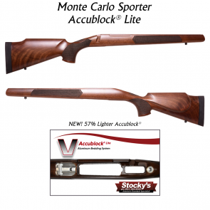 Stocky's® Monte Carlo Sporter - Walnut w/ New Accublock Lite®