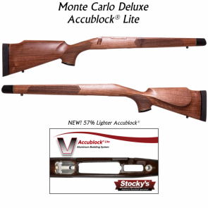 Stocky's® Monte Carlo Sporter Deluxe - Walnut w/ New Accublock Lite® Remington 700™ Long Action