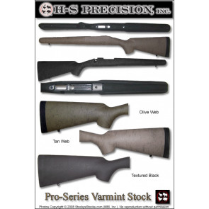 H-S Precision Pro-Series 2000 Varmint Stocks - Winchester 70 Varmint Tactical & FN Patrol Bolt Rifle (PBR)