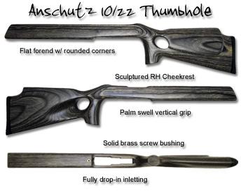 Anschutz Thumbhole Ruger 10/22