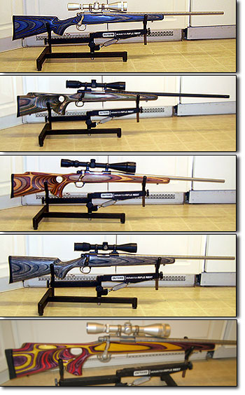 Four Laminated Stocked Rifles